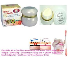 24 Units X Whitening Pearl Snow Lotus Latinal Smoother Face Cream 20g. (Can Be Used As Foundation Cream, Before Makeup Your Face Prevent Acne, Freckles, Melasma, and Dark Spots From Recurring.) (Free Gift: All in One Ebou Aroma Rose Salt Facial Scrub +Remove Acne +Pimple + Whitening + Oil Control + Face Scrub + Smooth 200g. And Epistick Epilator Facial Face Hair Free Remover Stick) by Kim.. $248.00. This cream is the best for:Whitening + Softening + Pimple & S...