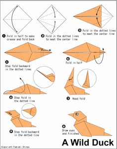 30 Beautiful Examples Of Easy Origami Animals | http://www.barneyfrank.net/beautiful-examples-of-easy-origami-animals/