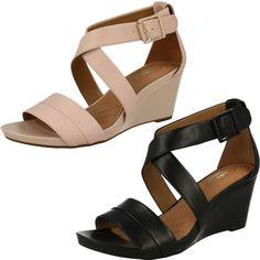 United Footwear - Ladies Clarks Open Toe Wedge Casual Sandals Acina  Newport,  49.99 ( 257c7b4283b