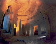 MALTA - Hal Saflieni Hypogeum - This underground necropolis was discovered in 1910.  Chambers and passages were carved from rock. it is thought to date from around 3600 to 3000 BC, and an estimated 7000 bodies may be buried here.