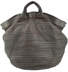 Majo  Slouchy Leather Bag in Mint ~ Inspiration but think it could look great in a heavy summer fabric ~ what a great beach bag!