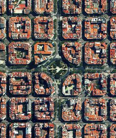 Civilization in Perspective: Capturing the World From Above,Barcelona, Spain. Image Courtesy of Daily Overview. © Satellite images 2016, DigitalGlobe, Inc