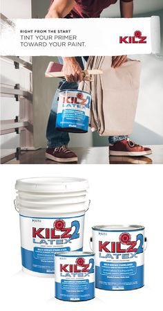 KILZ LATEX is a fast drying, water-base, multi-purpose primer-sealer-stainblocker that can be topcoated with latex or oil-base paint. Kilz Primer, Vinyl Tiles, Protecting Your Home, Base, Paint Schemes, Home Repair, Simple House, Home Decor Kitchen, Painting Tips