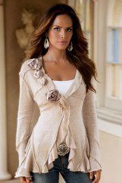 woman fashion, fashion clothes, ruffl, diy fashion, rose cardigan, fashion styles, closet, inspired outfits, rose gold