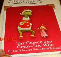 The Grinch & Cindy Lou Who Ornaments