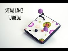 Spiral canes and brooch | POLYMER CLAY TUTORIAL | Lucy Struncova - YouTube Images très explicites.jolie finition.