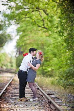 Retro engagement shoot  //  joleen willis photography