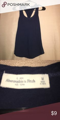 NWOT Abercrombie & Fitch racerback tank Navy blue racerback tank top. 100% cotton. Never worn, in great condition.  10% off bundles of 3+ items✂️🏷💜 Abercrombie & Fitch Tops Tank Tops