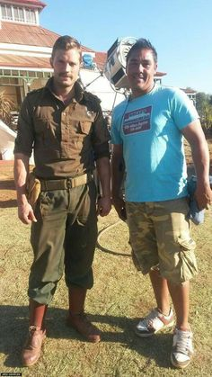 Jamie Dornan on the set of Jadotville. Northern IrishMovie ...
