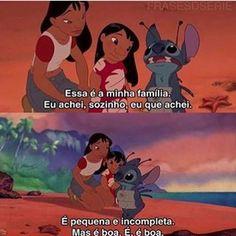 Lilo & Stitch Disney Films, Disney Pixar, Lilo Stitch, Memes Status, Text Pictures, Movie Quotes, Dreamworks, Cinema, Family Guy