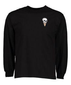 ba579ddd149 Retrofit Black Ice Cream Skull Patch Sweater - Men