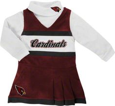 Arizona Cardinals Toddler Jumper and Turtleneck Set #azcardinals #cardinals #nfl