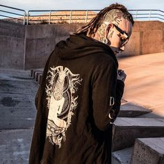 "CRMC X Vivid Black Artistry X View From The Coffin ""TEM.ple O.mnium H.ominum P.ads AB.ba"" Robe Available at www.crmcclothing.co | WE SHIP WORLDWIDE Models - Ryan Wreckless Photography - Archivalgrams #darkwear #hood #blackwear #hoodie #freemasonry #altfashion #alternative #fashion #fashionstatement #fashionblog #fashionista #fashionblogger #raglan #menwithtattoos #winter #winterfashion #styles #style #alternativeguy #alternativeboy #alternativegirl #ryanwreckless #tattooedmen"
