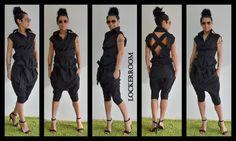 Black shirt / Black top / black extravagant top / Open back shirt by ClothesByLockerRoom on Etsy https://www.etsy.com/listing/223349528/black-shirt-black-top-black-extravagant
