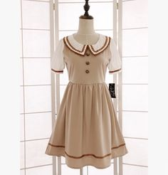 M: Dress length 84 cm, Sleeves 24 cm, Bust 90 cm, Shoulder 34 cm, Waist 68 cm L: Dress length 84 cm, Sleeves 25 cm, Bust 94 cm, Shoulder 35 cm, Waist 74 cm