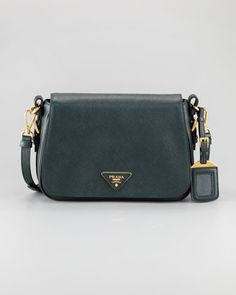 Saffiano Lux Messenger Bag by Prada at Neiman Marcus.
