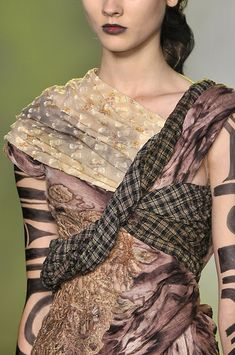 remake inspiration >>> look at the glorious mix of patterns, textures in Rodarte at New York Fashion Week Spring 2010 - StyleBistro