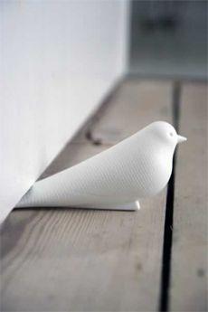 White Bird Door Stop