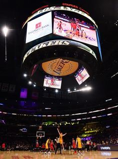 Tip off of the Los Angeles Lakers NBA season against