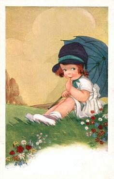 Dibujo antigua and d on pinterest - Ilustraciones infantiles antiguas ...