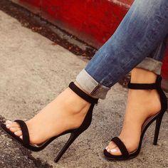 black nude sandals