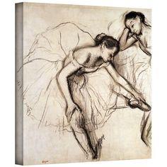Two Dancers Resting Canvas Art by Edgar Degas
