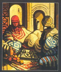 CHABAUD Jean Luc (*1953) Le jeu d'échec.
