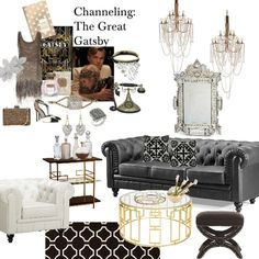 great gatsby interior design - Google Search                              …