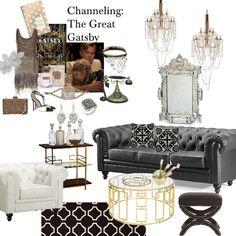 great gatsby interior design - Google Search