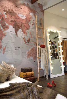 Bedroom Mirror: Learn How To Choose Impressive Photos - Decoração - Dressing Room Mirror, Modern Bedroom Decor, Contemporary Bedroom, Bedroom Ideas, Bedroom Designs, Diy Bedroom, Closet Bedroom, Closet Wall, Bedroom Neutral