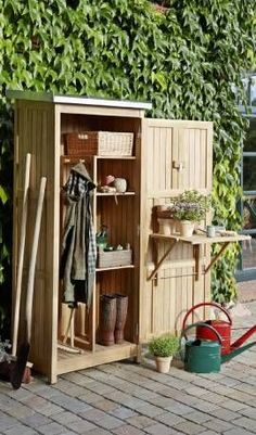 Shed Plans - Garden Tool Cabinet - Now You Can Build ANY Shed In A Weekend Even If You've Zero Woodworking Experience!