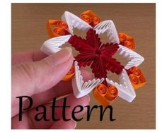 Quilling Tutorial, quilling pattern and template, quilled ornament (QD12) - DIY, PDF, Instant download