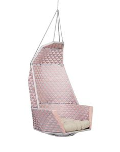 Chair from Republic Home $797.50 - currently on sale Outdoor Cushions, Outdoor Areas, Hanging Chair, Chair Design, Pink Grey, Light Colors, Indoor, Home Decor, Interior