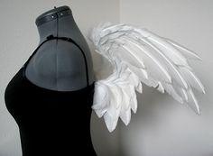 White Angel Costume Wings Handmade Cielo by DanielleHurleyDesign
