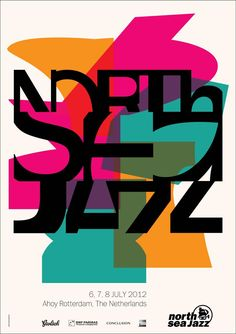 North Sea Jazz Festival 2012 poster design by Denise Nuijen