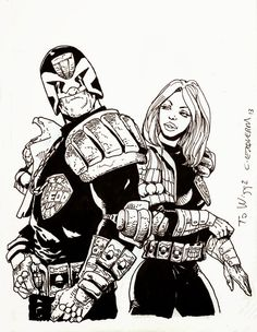 CARLOS EZQUERRA : JUDGE DREDD AND JUDGE ANDERSON
