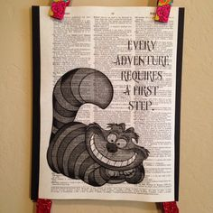Hey, I found this really awesome Etsy listing at https://www.etsy.com/listing/190880918/cheshire-cat-old-dictionary-print-every