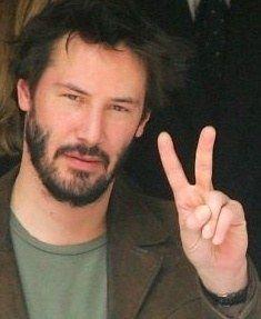- Peace right back at ya' big guy. Keanu Reeves, Keanu Charles Reeves, Stars D'hollywood, Blockbuster Film, Movie Facts, Gary Oldman, Good Looking Men, Club, My Boyfriend
