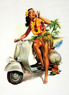 Sorry, not vintage hawaiian pin up that
