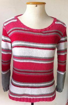 Blusa de tricô com o fio Cores da Purafibra