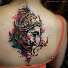 Lord Ganesh Tattoo by Felipe Rodrigues Fe Rod | TATTOOBLEND