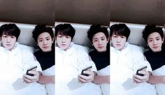 chanbaek in bed Chanbaek Fanart, Exo Chanbaek, Exo Ot12, Baekhyun Chanyeol, Park Chanyeol, Fall In Luv, Exo Couple, Xiuchen, Kim Jongdae