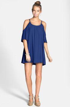 dee elle Cold Shoulder Dress (Juniors) available at #Nordstrom