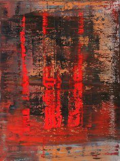 """Koen Lybaert; Oil 2014 Painting """"abstract N° 982"""""""