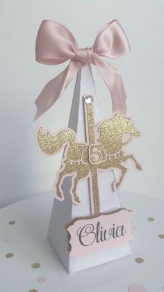 Carousel Birthday | Carousel Baby Shower | Carousel Party | Pink and Gold…