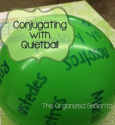The Organized Señorita: Conjugating with Quietball (I call it Speedball/Silent Speedball when I didn't teach FL) Teaching Latin, Spanish Teaching Resources, Spanish Activities, Teaching Activities, Teaching Ideas, Teaching French, High School Classroom, Classroom Games, Classroom Language