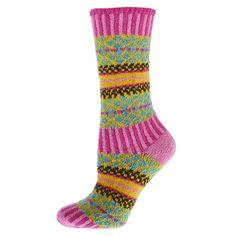 Qt-feet-Lattice-Ladies-Crew-Socks