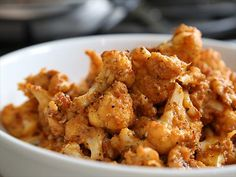 In case you missed it, learn how to make the Best Cauliflower Ever by cooking the cauliflower with a puree of garlic, red pepper, tofu, salt and pepper.