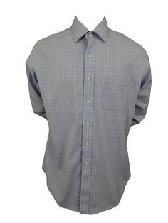 Brooks Brothers 346 Dress Shirt Size 17 4/5 Slim Fit Non Iron Stretch Blue Plaid #BrooksBrothers