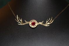 Shell Casing Antler Necklace